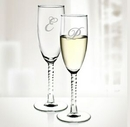 Custom Molten Glass 5.75 Oz. Angelique Twisted Flute Set of 2, 8 1/8