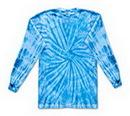 Custom Spider Baby Blue Long Sleeve Tye Dye Shirt