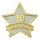 Custom Year Of Service Star Pin - 10 Year, 7/8