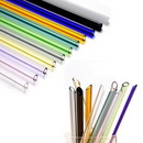 Custom Multi-color Clear Straight Glass Drinking Straw, 7 7/8