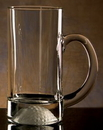 Custom Golfer's Beer Mug. 13 oz. Etched Golf Ball on bottom of mug