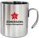 Custom 14 Oz. Double Wall Stainless Steel Camping Mug with Hook Handle, 3.75