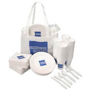Custom Lunch Launcher Set with Napkins/ 50 Plates/ 50 Cups & 3 Piece Utensil Set