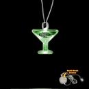 Custom Green Martini Light Up Pendants