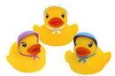 Custom Rubber Baby Bonnet Duck, 2 1/2