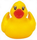 Custom Rubber Joyful Duck, 3 3/8