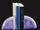 Custom Optical Crystal Faceted Bookends