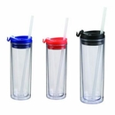 Custom 14oz Double Wall Sip Top Tumbler w/Straw (BPA Free)(screened )