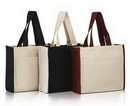 Custom Heavy Cotton Tote Bag with Front Pocket & Contrasting Handles, 17