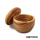 Custom Swissmar® Napoli Salt Keeper - 2.2oz Olive Wood