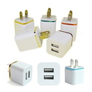 Custom Dual Ports USB Wall Charger Adapter, 1 2/5