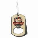 Custom Texture Tone Dog Tag Bottle Opener Silicone Wristband with Large Vibraprint Patch