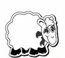 Custom Lamb Notekeeper Magnet- 35 Mil Process Color (3-1/2