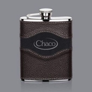 Custom Colchester Hip Flask - 6oz Two-Tone Leather, 6