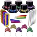 Blank Midnight Metallic New Year's Party Kit For 50