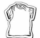 Custom Shirt Notekeeper Magnet - 35 Mil Process Color (2 1/2
