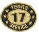 Custom Stock Die Struck Pin (17 Years Service)