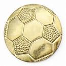 Custom Gold Soccer Pin, 7/8