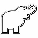Custom Elephant Notekeeper Magnet- 20 Mil Process Color (2-3/4