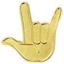 Custom Love Hand Sign Pin, 1