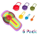 Custom Pack of 6 Plastic Measuring Cup and Spoon