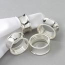 Custom 4 Piece Beaded Napkin Ring Set