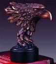 Custom Diligent Eagle's Head Award, 7-1/2