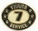 Custom Stock Die Struck Pin (7 Years Service)