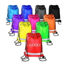 Custom 210D Reflective Drawstring Backpack, 13.8