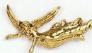 Custom Flying Angel w/ Outstretched Arms Stock Cast Pin