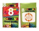 Custom 8 Pack Crayons