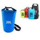 Custom 20L Lightweight Waterproof Dry Bag with Shoulder Strap, 9 13/16