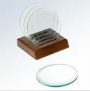 Custom Round Jade Glass Coaster Set (Screened)