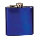 Custom 6oz Stainless Steel Flask - Glossy Blue ( screened )