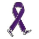 Blank Purple Awareness Walk Lapel Pin, 1