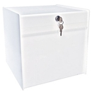 Custom Large White Deluxe Ballot Box