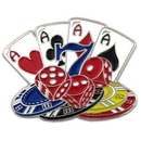Custom Cards Dice and Poker Chips Pin