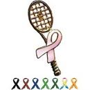 Custom Amcraft -  Awareness Tennis Racket Pin, 1 1/2