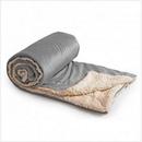 Custom Micro Mink Sherpa Blanket - Gray, 50