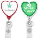Custom Hemp Jumbo Heart Badge Reel (CHROMA), 1.53
