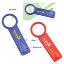 Custom Magnifier w/ Ruler & Bookmark, 4 1/2