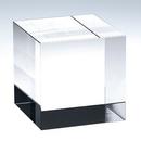 Custom Medium - Straight Crystal Cube Award/Paperweight, 2 3/8