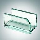Custom Jade Glass Business Card Holder, 2 1/4