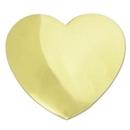 Custom Gold Heart Lapel Pin, 3/4
