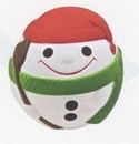 Custom Snowman Ball w/ Green Scarf Stress Reliever Squeeze Toy