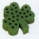 Custom 24 Hole Seasonal Foam Rack for Test Tubes - Shamrock