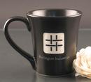 Custom 12 Oz. Carved Ceramic Black Flair Mug, 4 1/2