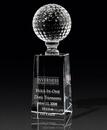 Custom Optical Crystal Golf Pedestal Award (2 3/4