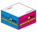 Custom Ad Cubes Memo Note Pad W/ 4 Colors & 1 Side (3.875