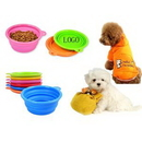 Custom Collapsible Silicone Pet Bowl, 5 1/8